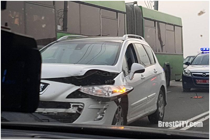 Авария на Кобринском мосту в Бресте 16 ноября