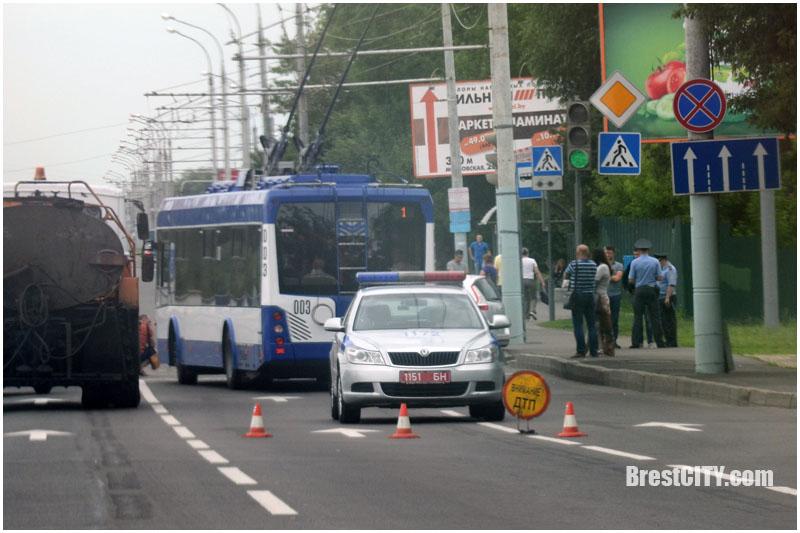 Авария в Бресте возле Короны 26 июня 2017