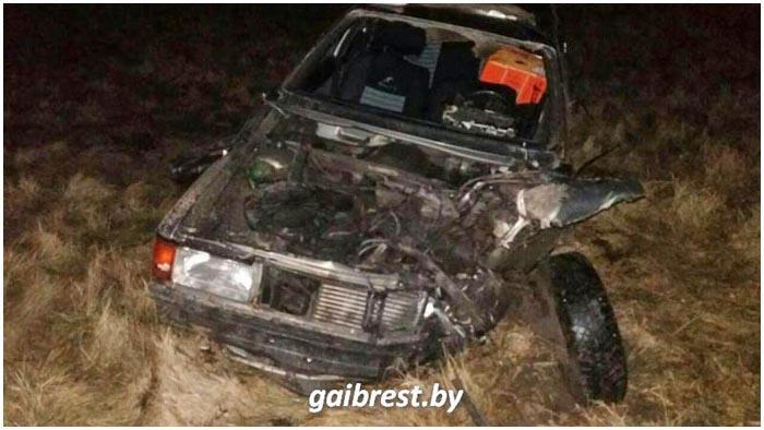 Пьяный водитель разбился в Столинском районе