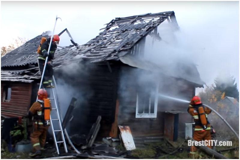 Пожар в Кобринском районе