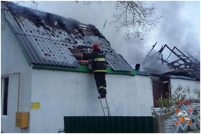 Пожар в деревне Прилуки