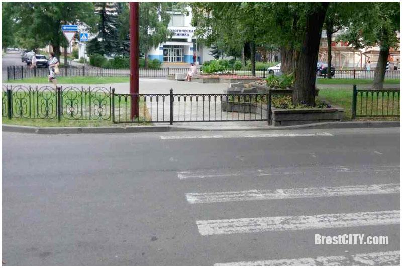 Закрыт переход на ул.Гоголя