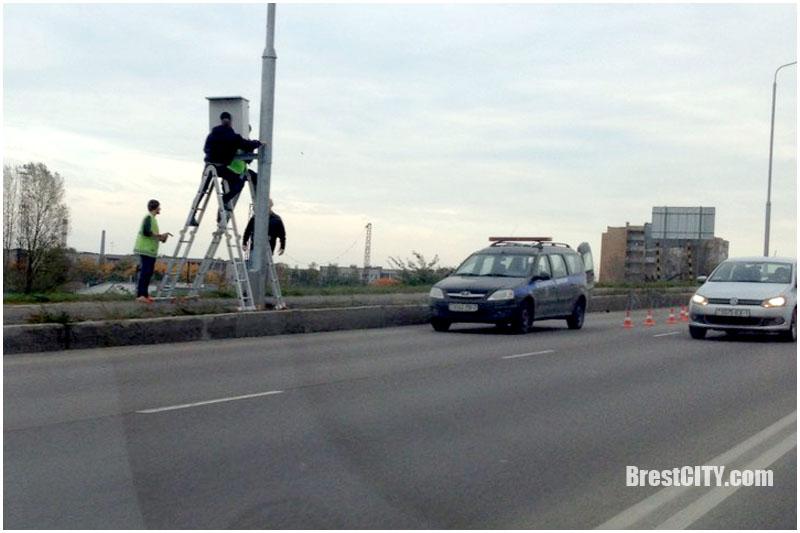 Камера фотофиксации на березовском мосту
