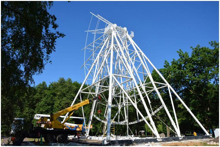 Новое колесо обозрения в Брестском парке. Когда откроют