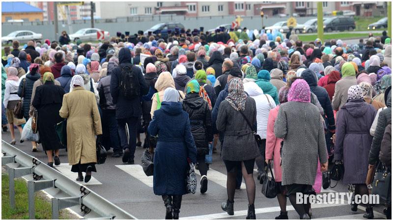 Крестный ход в Бресте 18 сентября 2017