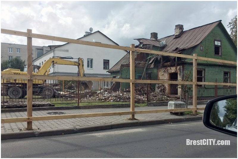 Снос домов на улице Леваневского в Бресте