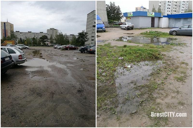Парковка на улице Луцкой в Бресте