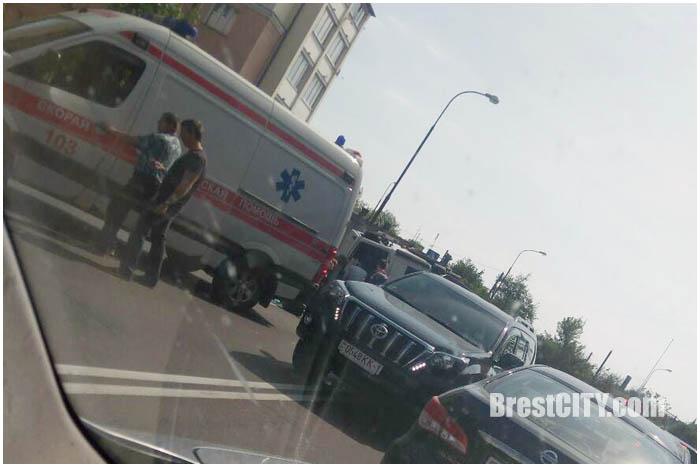 В Бресте перевернулся грузовик 24 мая