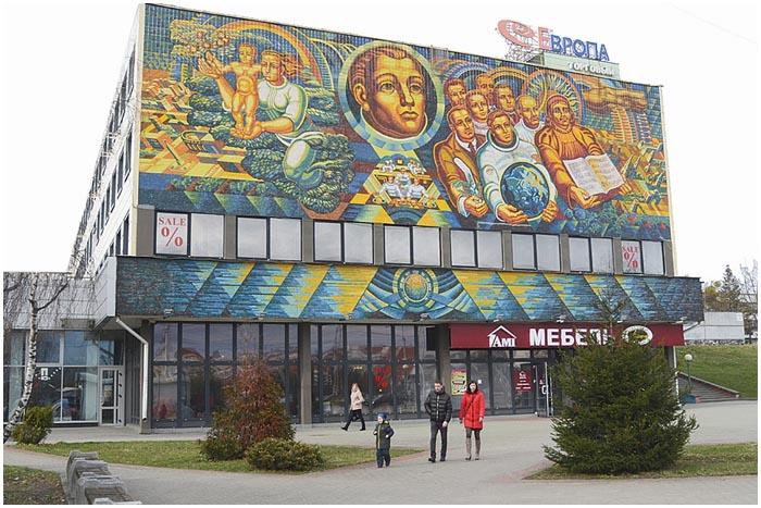 Мозаика на БЭМЗе в Бресте