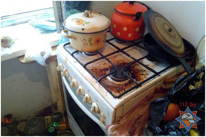 Подгорела еда в квартире. Задымление