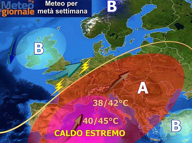Погода 2 августа в Европе