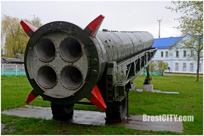 Последняя баллистическая ракета р-12 в Пружанах. Фото BrestCITY.com