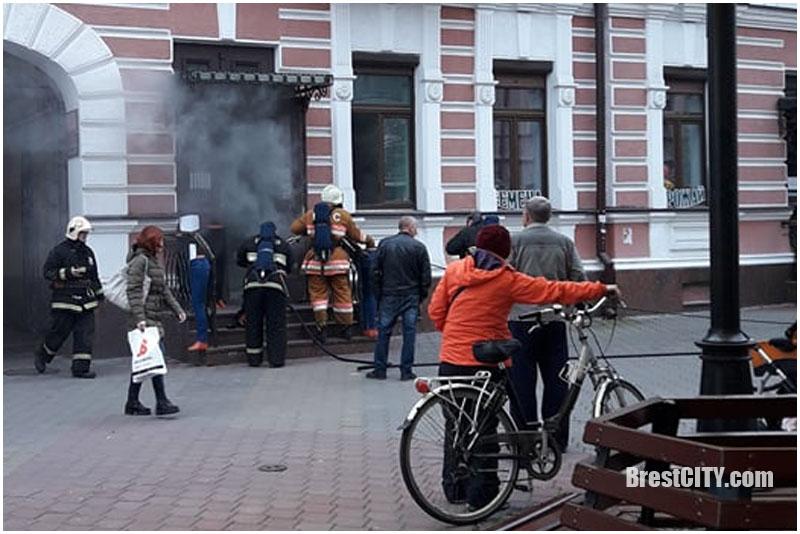 Пожар на Советской в Бресте