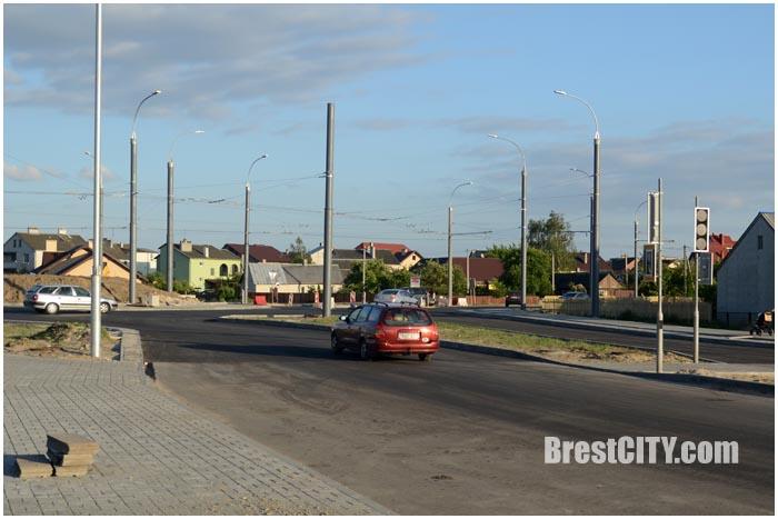 Кнопочные светофоры и новые остановки на кольце по ул.Суворова в Бресте