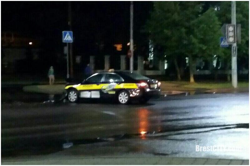 Авария с участием такси в Бресте