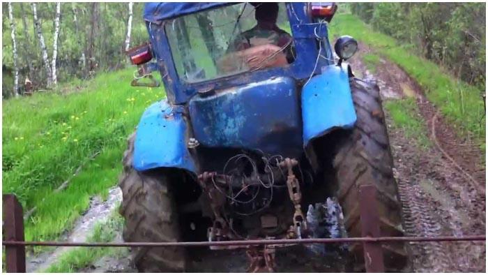 Угнал трактор