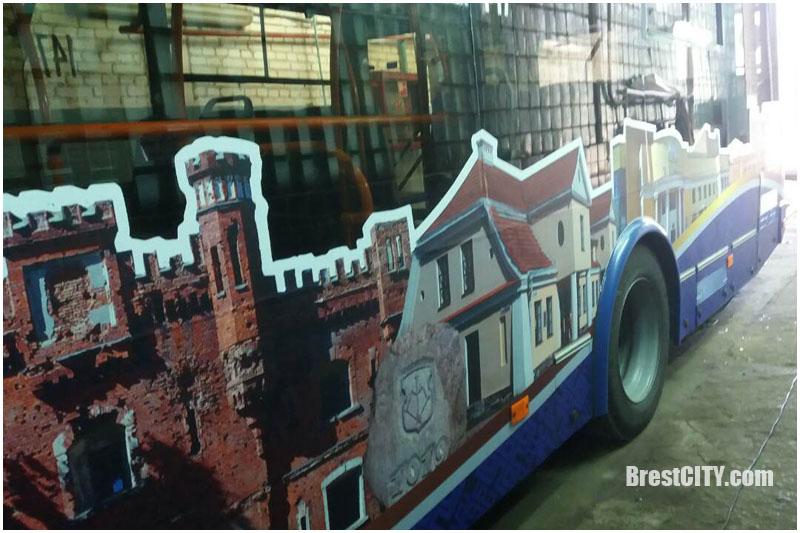 Тематический троллейбус к тысячелетию Бреста