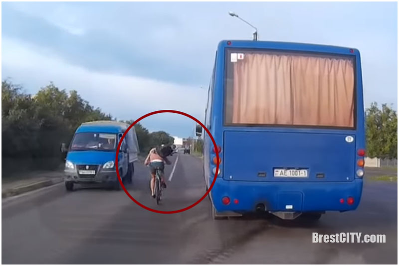 Велосипедист на встречке