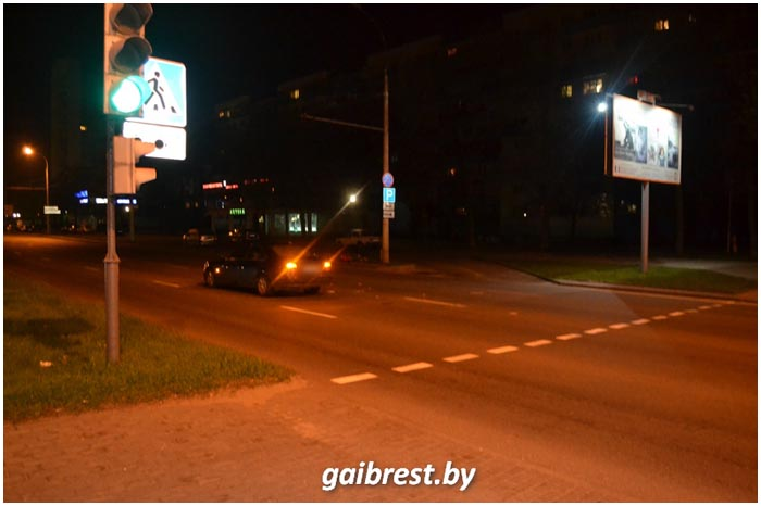 Авария с велосипедистом в Бресте