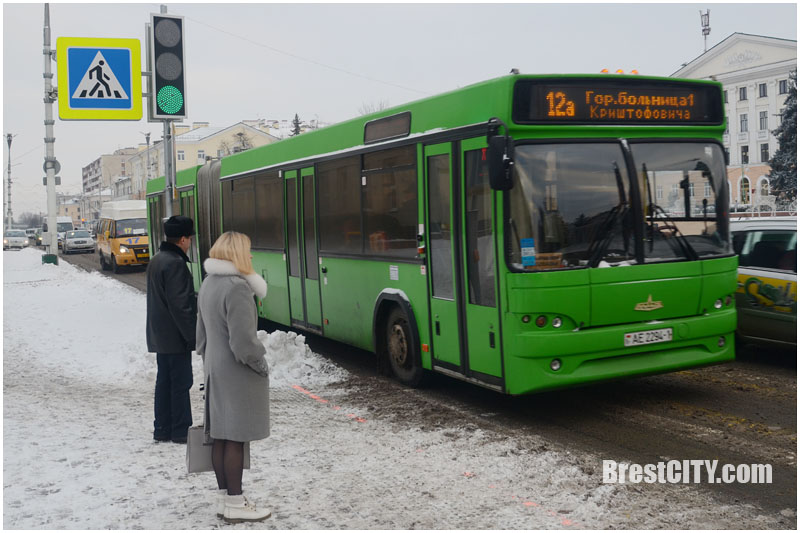 Городской автобус в Бресте