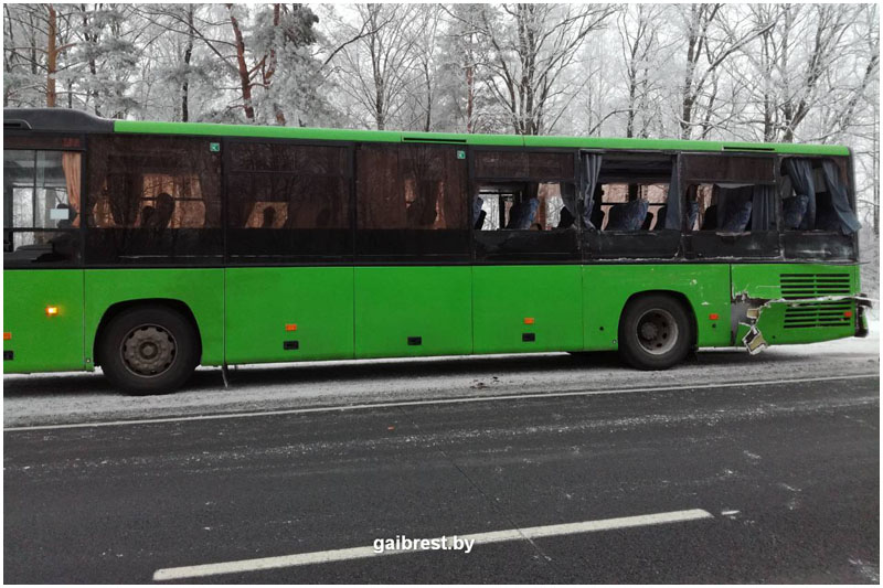Авария в Пинском районе 23 января 2018