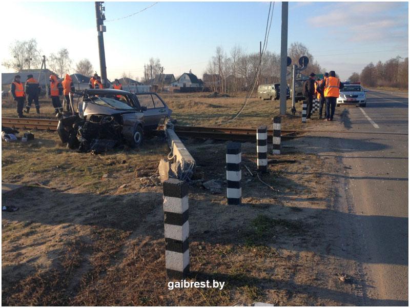Авария возле Бреста 15 января 2018