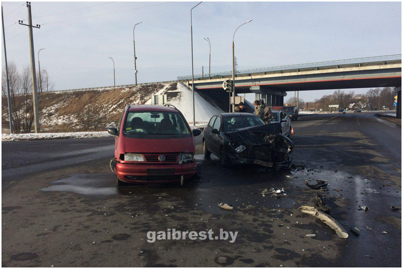 Авария возле Бреста 25 января