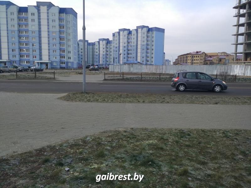 Авария в Бресте на Морозова 10 января