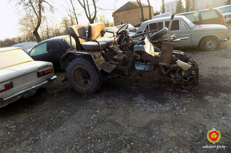 Авария на самодельном тракторе
