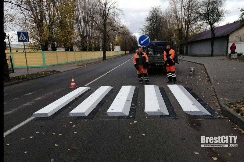 Первый 3D пешеходный переход появился в Бресте возле парка