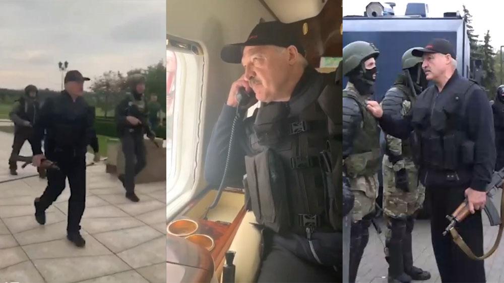 Лукашенко с автоматом и в бронежилете. Подробности происходящего в ...